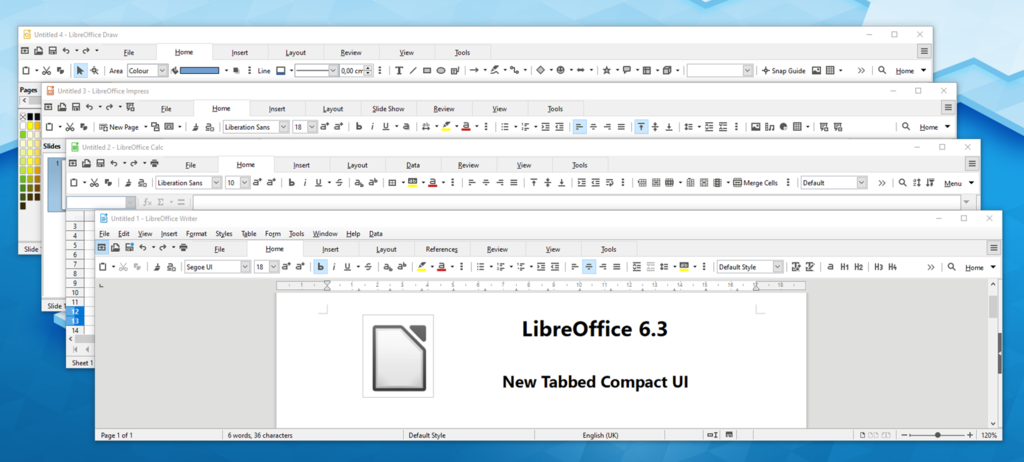 Libreoffice 6.3 Interface
